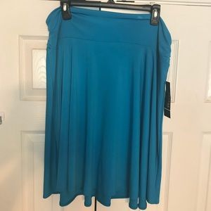 Turquoise stretchable skirt -